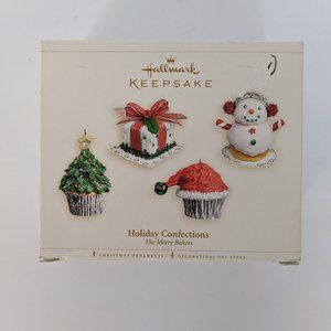 Hallmark 4 Ornament Set Holiday Confections Merry